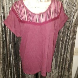 Style & Co Orchard Vine short sleeve sweatshirt